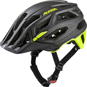 Alpina Garbanzo Kask rowerowy, black-neon-yellow